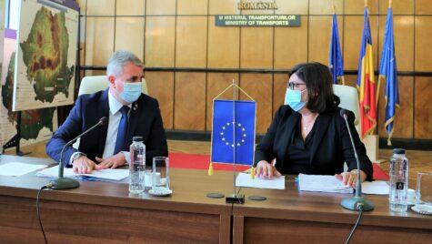MTIC: Intalnire Ministrul Lucian Bode cu Adina Vălean, Comisar European pentru transporturi